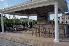cream ridge weathervane circle full back yard remodel 09-21-2017 - 13